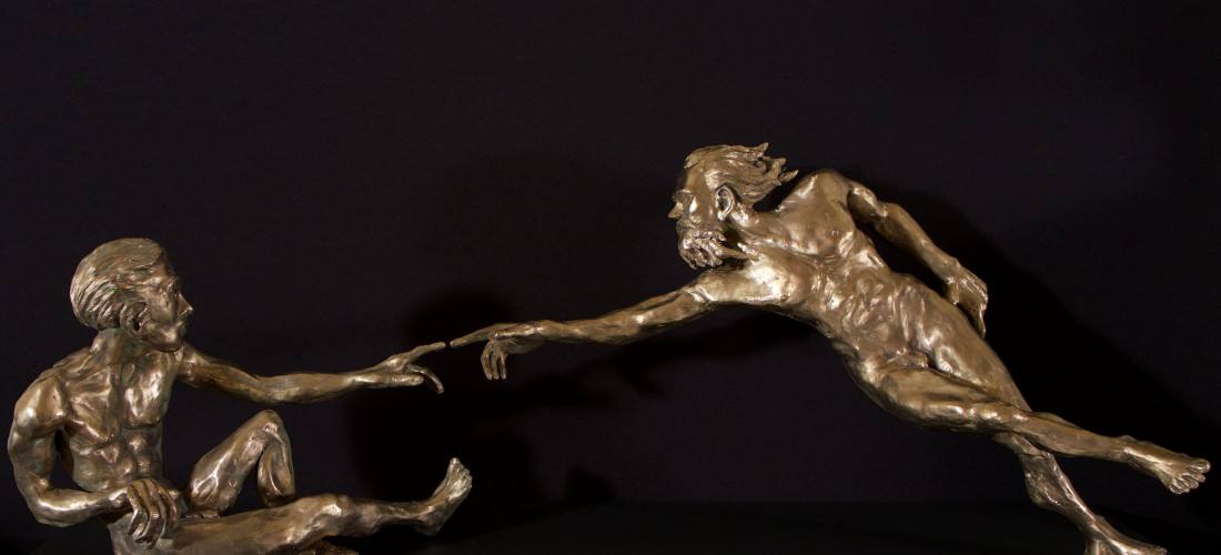6. Adam's creation 40hx50x130cm, bronze 2016 (2)